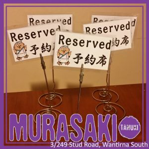 Book your table NOW at MURASAKI